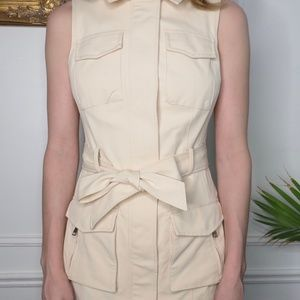 Bebe Peachy Cream Zip Dress